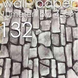 Bricks Stones Design Wallpaper Self Adhesive C132