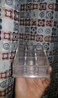 Acrylic Organizer 9 lipsticks slots