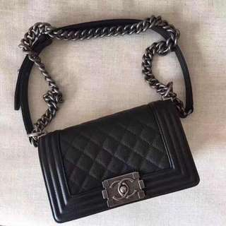 Chanel classic black chain bag 20*12.5cm