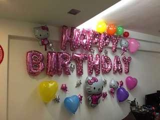 Hello Kitty birthday balloon set