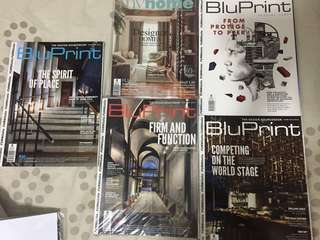 Bluprint and my home architectural magazines