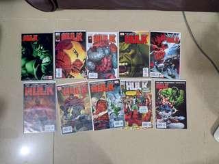 Marvel Hulk comic 總數超過40 本 Marvel Hulk (2008) , the incredible Hulk , 綠巨人浩克 變型俠醫 not avengers the infinity war ,iron man , capatin America 美國隊長 復仇者聯盟 無限之戰 紅巨人 Thor Loki