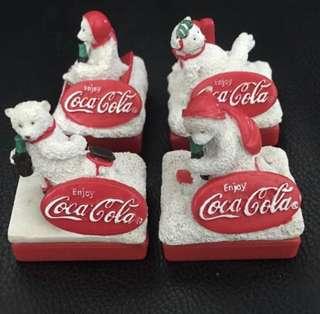 多年珍藏-可口可樂Coca Cola 印仔一套四個