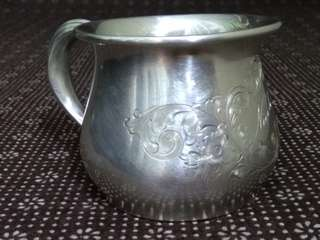 "US Antique 1939 Sterling Silver Cup/ Mug, BIRKS, 98g, 7.2cm Dia, 6.2cm Tall (gold wash, tastefully monogrammed ""Nicole"" in the center), 美國古董純銀杯 (實用+裝飾擺設) www.925-1000.com/forum/viewtopic.php?t=31780 www.silvercollection.it/AMERICANSILVERMARKSBDUE.html"