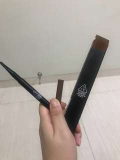 3CE Stylenanda Sharpen Edge Eyebrow Pencil - Shade Cooper Brown