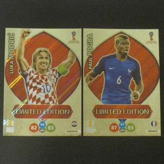 2018 World Cup Russia Panini Adrenalyn Limited Edition - Luka MODRIC / Paul POGBA #Croatia #France