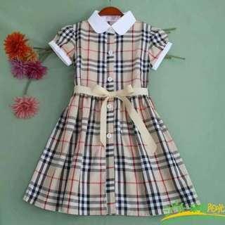 🌼Checkered Polo Dress