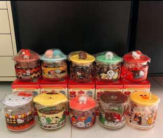Line Friends x Sanrio Character Glass Container Collection