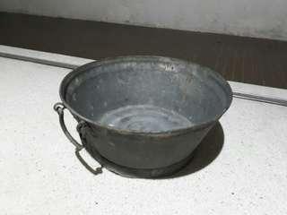 large vintage metal tub basin
