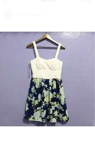 Floral Lace Bustier Dress