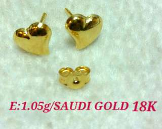 Saudi Gold Earrings 18K