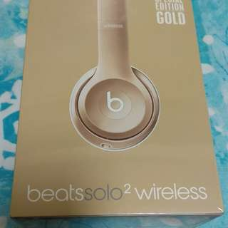 Beats Solo2 Wireless Gold Edition