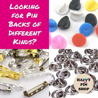 Sourcing service for pin backs and jewellery & craft findings for brooches, collar pin, lapel pin, acrylic pin, etc