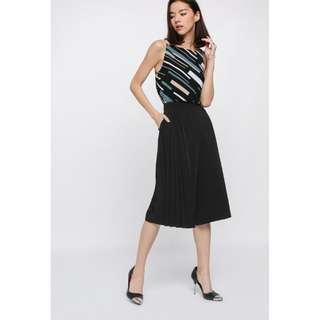 Love Bonito LB Cahoria Side Pleated Culottes in Black size M BNWT