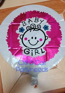 It's BOY or GIRL foil balloons