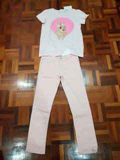 H n m - top and pants- 8 years old