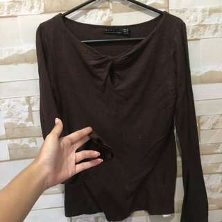 Zara brown top