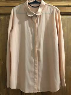 COTTONINK Nude Scallop Shirt