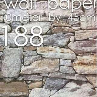 Bricks Stones Design Wallpaper Self Adhesive C188
