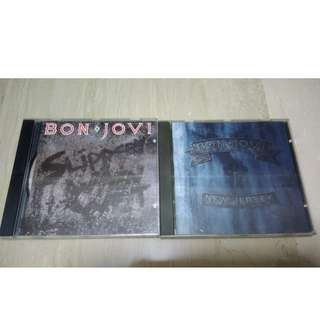 Bon Jovi Fans. 2 CD albums - Slippery When Wet (1987) & New Jersey (1988)