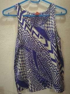 Silk top - violet sleeveless