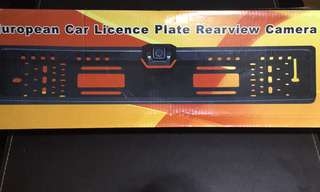CAR PLATE REARVIEW CAMERA