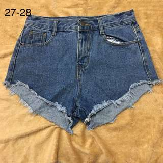 Highwaist Denim Maong Tattered Ripped Shorts 3