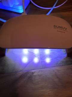 Sunuv light for gel nails