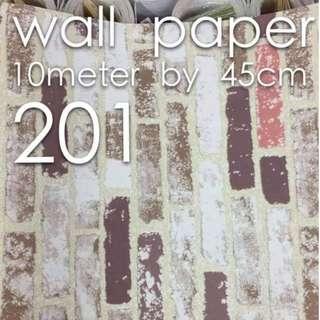 Bricks Stones Design Wallpaper Self Adhesive C201
