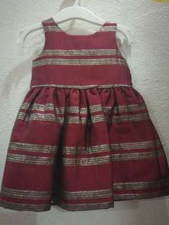 Osh kosh red dress gown for 12 months baby