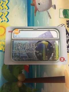 深水埗 香港地鐵紀念車票 絕版