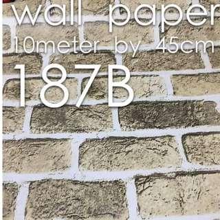 Bricks Stones Design Wallpaper Self Adhesive C187B