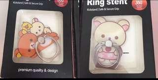 ✨買二送一 鬆弛熊 輕鬆熊 白熊 手機指環 手機扣 Ring Stent 懶懶熊 Rilakkum