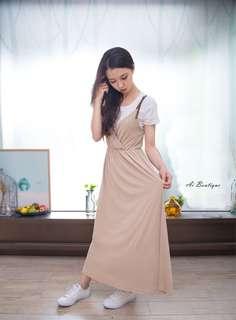 🚚 [出清]皮繩吊帶洋裝(不含白T)
