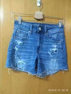 American Eagle牛仔短褲 高腰