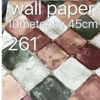 Bricks Stones Design Wallpaper Self Adhesive C261