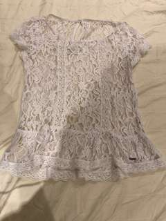 Abercrombie & Fitch white lace top