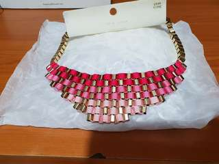 NEW LOOK - Kalung Statement Pink Anyam