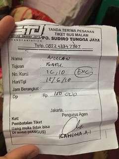 Tiket Bus Jakarta -Batu(Wonogiri)