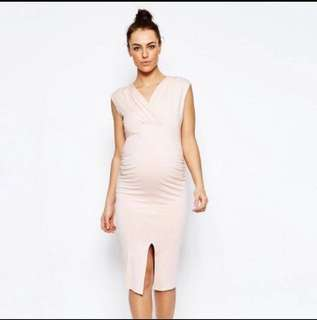 ASOS maternity pink dress