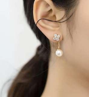 韓國 仿珍珠耳環 簡約 結婚