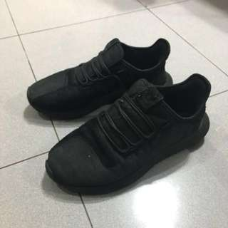 Adidas tubular shadow black suede authentic original