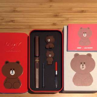 Lamy X Line Friends BROWN in the RED Fountain Pen