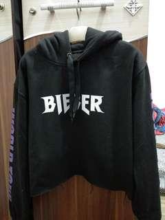hoodie crop bieber