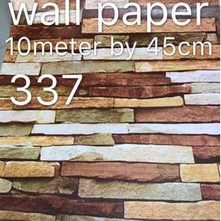Bricks Stones Design Wallpaper Self Adhesive C337