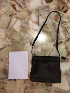 Dark Brown Coach Sling Bag Brand New 100% Authentic