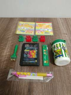 Sanrio keroppi kp青蛙中古 set