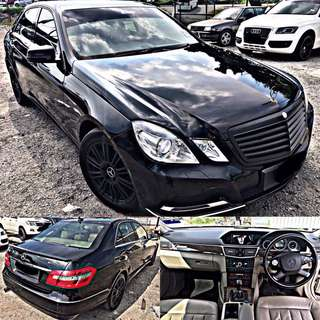 SAMBUNG BAYAR / CONTINUE LOAN  MERCEDES BENZ E200 CGI 1.8AUTO HIGH SPEC
