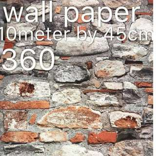 Bricks Stones Design Wallpaper Self Adhesive C360