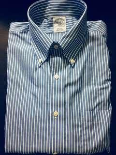 Brooks Brothers 粉藍粗間 Slim Fit Polo 男裝恤衫  15 1/2-2/3 (未剪價錢牌)